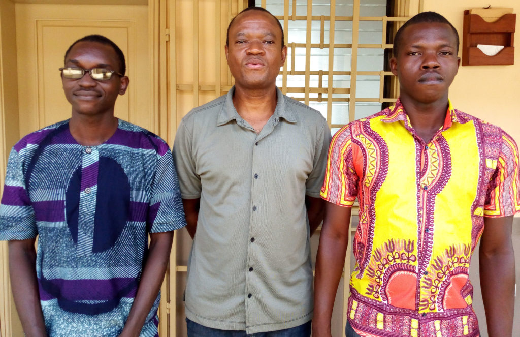Pictured left to right: Briac Afangnon, Kazotti Ifonti and Isidore Odountan