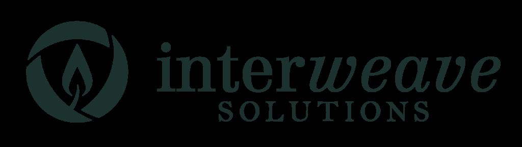 Descargar (150KB) Logotipo de Interweave Solutions, estilo horizontal, color verde oscuro, en el format raster .png Este archivo tiene un fondo transparente.