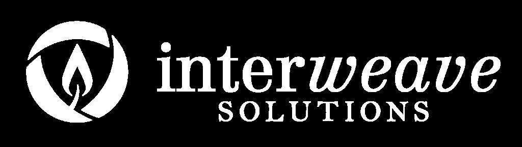 Descargar (150KB) Logotipo de Interweave Solutions, estilo horizontal, color blanco, en el format raster .png Este archivo tiene un fondo transparente.